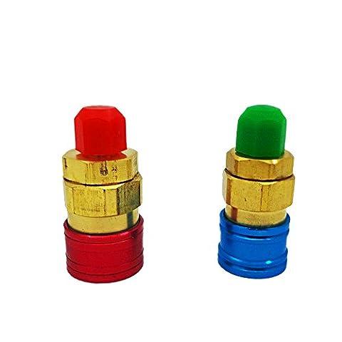 VLIKE Kühlung Klimaanlage Low/High Druck Single mannigfaltigkeit Gauge Ventil 1/10,2cm SAE Gewinde ideal für r-22r-12r-502R-134A Kältemittel R