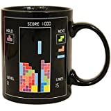 Retro Tetris Heat Changing Change Mug Hot Coffee Tea Cup Novelty Gift 80s Gaming Classic Drink Vintage