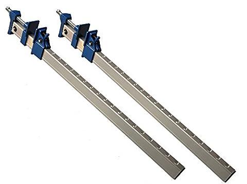 2 Stück Fugzwinge Aluminium 600 mm U - Profil mit Schnellspannmechanismus