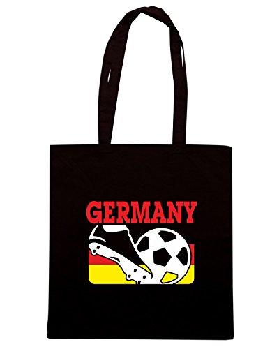 T-Shirtshock - Borsa Shopping T0714 GERMANY calcio ultras Nero