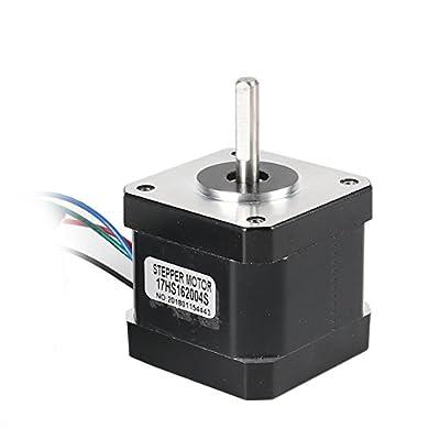 Stepper Motor, DorisDirect Stepper Motor Nema 17 Bipolar 100mm 64oz.in(45Ncm) 2A 4 Lead 3D Printer Hobby CNC w/1m Cable & Connector