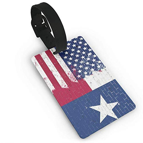 Texas American Flag Street Wall Luggage Tags ID Convenience Accessioes