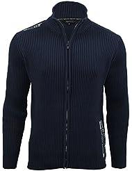 Xact Clothing - Pull style cardigan pour homme - manches longues - côtelé