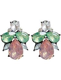 7aed5afeca69 1 Color de los cristales Par caramelo encantador del partido de tarde de  las mujeres pendientes