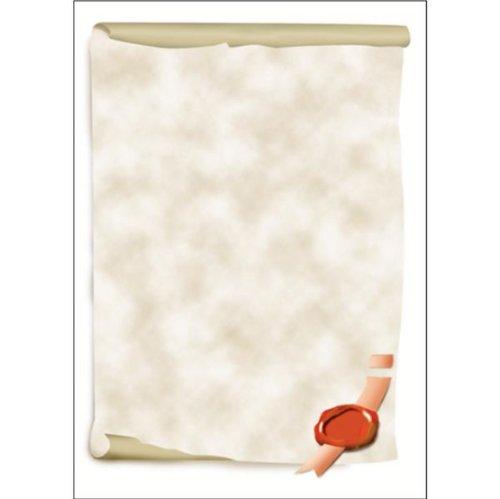 Sigel DP521 Motiv-Papier, Urkundenrolle, 185 g, DIN A4, 12 Blatt