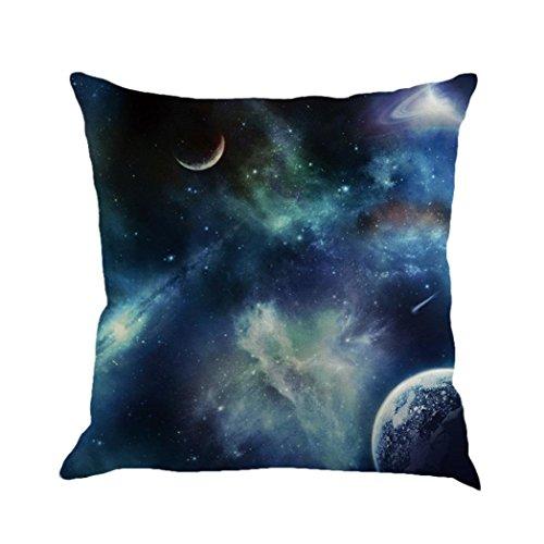 DOLDOA Galaxy Sternen Kissen Abdeckungs Kissenbezug Sofa Kissen Fällen Home Decor (45 X 45 CM/18