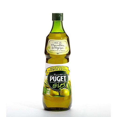 Puget - Huile d'olive vierge extra issue de l'agriculture biologique - La bouteille de 75cl - (pour la quantité plus que 1 nous vous remboursons le port supplémentaire)