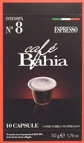 Café bahia, 100 capsule compatibili nespresso - espresso intensità 8 - 500 g