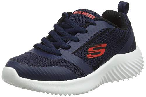 Skechers Boys' Bounder Trainers, Blue Navy & Black Textile/Red Trim Nvbk, 10.5 UK 28 EU