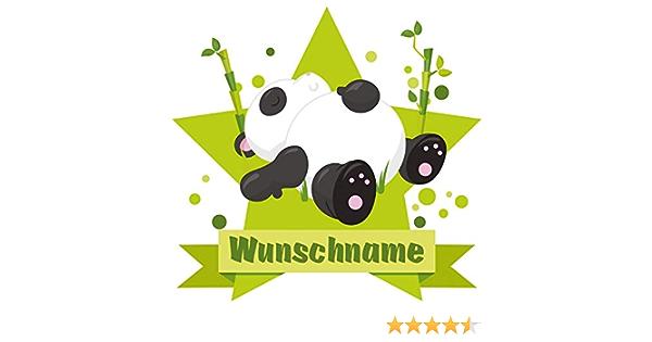 Samunshi Schlafender Panda Bär Aufkleber Mit Namen Autoaufkleber Namensaufkleber Kinder In 7 Größen 10x8 8cm Mehrfarbig Küche Haushalt