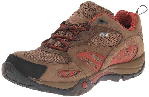 Merrell Azura Waterproof Hiking Shoe Dark Earth/Red