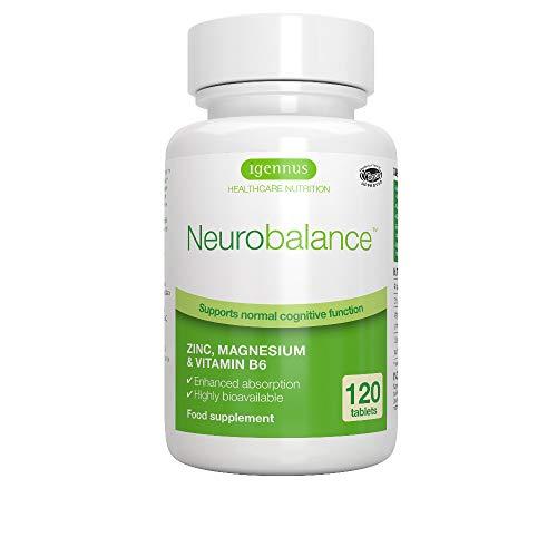 Neurobalance Zmb6 - Integratore di zinco, magnesio e vitamina B6 per adulti e bambini, 120 compresse