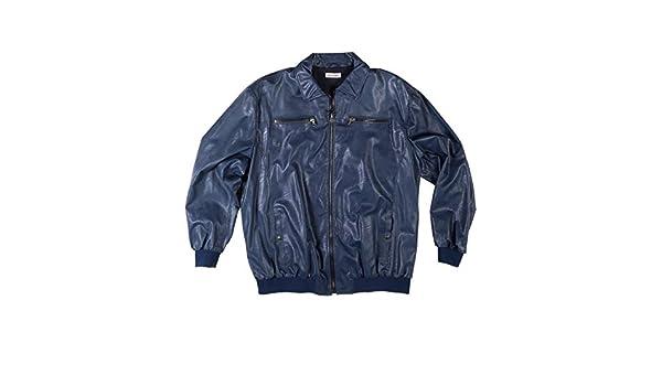 Maxfort Taglie Forti Uomo Giubbino Giubbotto Giacca Eco Pelle Morgan Blu  20-18  Amazon.it  Abbigliamento ad86152dd80