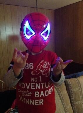 Kofun Animation Cartoon Maske Spiderman glühenden Superman für Kinder Kinder Halloween Kostüme