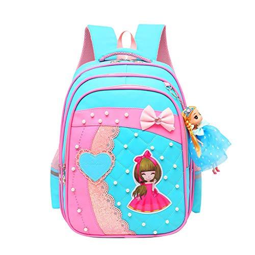OPmeA Grundschule Teen Girl niedlich Bow Princess Style Backpack Outdoor-Tasche für Kinder (Farbe : 1, größe : One Piece)