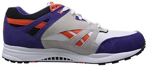 Reebok Ventilator Athletic, Unisex-Erwachsene Sneakers Mehrfarbig (White/Sport Violet/Swag Orange/Black)