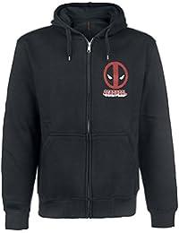 Deadpool Logo Sweat à capuche zippé noir
