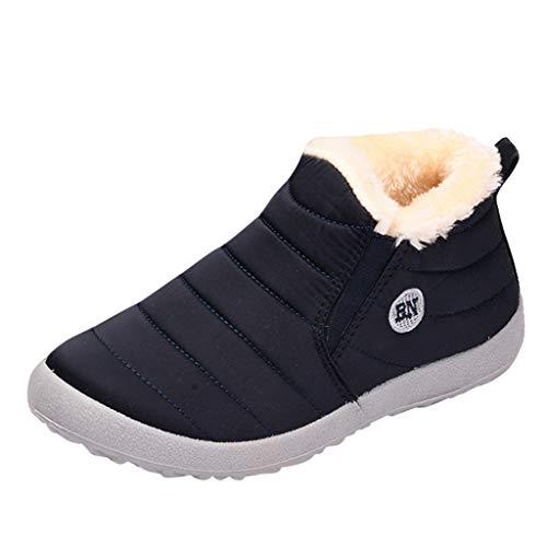 Jujiashoes Donna Sneakers Scarpe da Ginnastica Corsa Sportive Fitness Running Basse Interior Casual all'Aperto Scarpe da Barca Donna antiscivolo Scarpe di Cotone Piatto Pelliccia calde