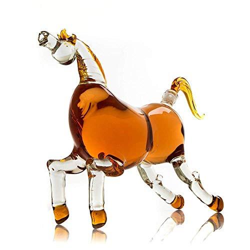 (Namenlos Pferde Derby Dekanter für Bourbon, Whisky, Scotch, Wodka, Rum, Tequila oder EIN anderes Getränk 1000ml Dekanter (Pferd))