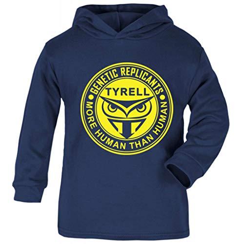 Deckard Runner Kostüm Blade - Cloud City 7 Blade Runner Tyrell Replicants Logo Baby and Kids Hooded Sweatshirt