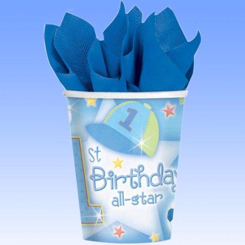 18 Pappbecher 1. Geburtstag Boy