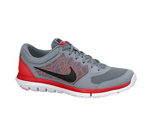 Nike Flex 2014 Rn 642791-017 Herren Sportschuhe Dove Grey / Bright Crimson / White / Black