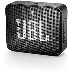 JBL GO 2 - Mini Enceinte Bluetooth portable - Étanche pour piscine & plage IPX7 - Autonomie 5hrs - Qualité audio JBL - Noir