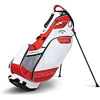 Callaway CG ST Hyperlite 3X Bolsa para Carro de Golf, Unisex Adulto, Blanco/Naranja / Negro (Titanio), Talla Única