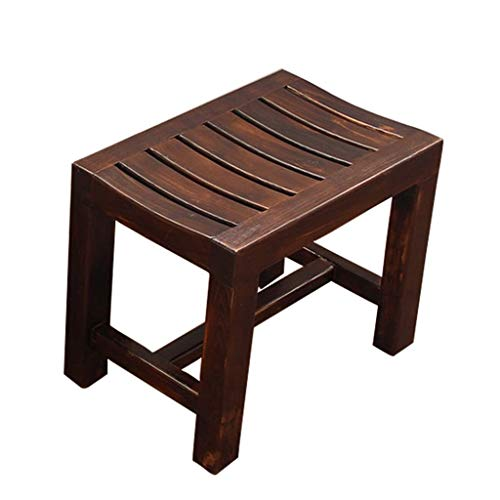 WRRAC-Duschhocker Holz Duschsitzbank Wasserdicht Bad Stuhl Hocker Whirlpool Veranstalter Innen- oder Außenbereich Breiter Rahmen Mobilitätshilfe für Behinderte Alten