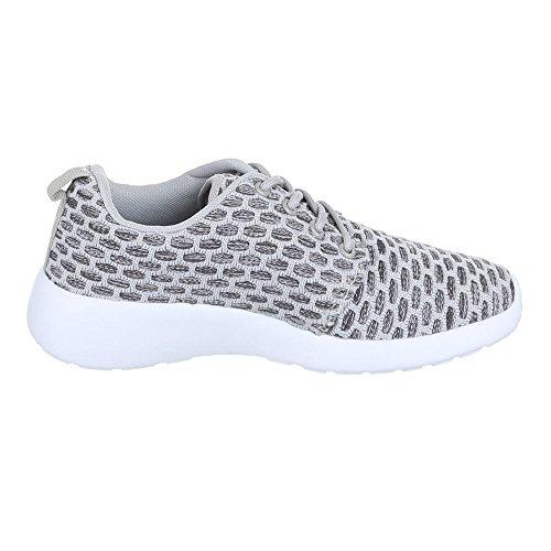 Ital-Design, Sneaker donna grigio - grigio