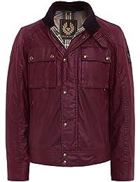 Belstaff Hombres chaqueta de ocasion de cera Cardenal Rojo