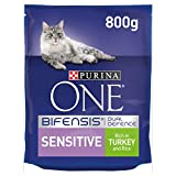 Purina ONE Sensitive Cat Food Turkey and Rice 800g - Case of 4 (3.2kg)