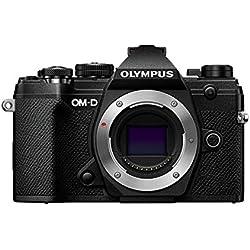 Olympus OM-DE-M5 Mark III Noir, Appareil Photo Micro 4/3, capteur 20 MP, stabilisateur d'image 5 axes, AF puissant, viseur électronique OLED, vidéo 4K, WLAN, Bluetooth