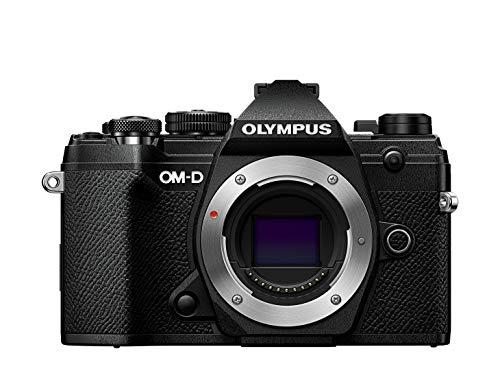 Olympus OM-D E-M5 Mark III Micro Four Thirds Systemkamera Gehäuse, 20 MP Sensor, 5-Achsen Bildstabilisator, leistungsstarker Autofokus, elektronischer OLED Sucher, 4K-Video, WLAN, Bluetooth, schwarz