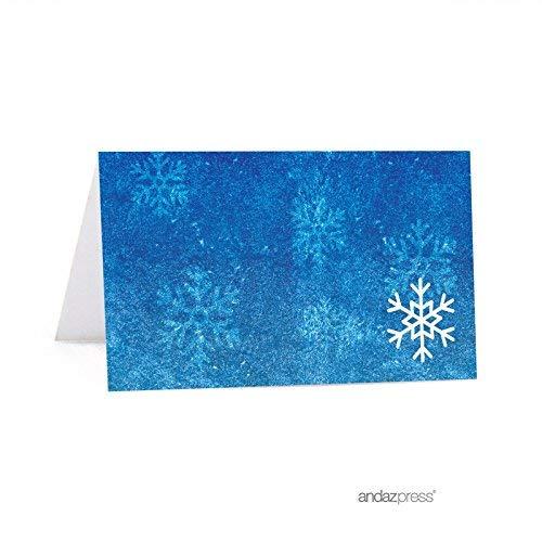 Andaz Drücken Geburtstag bedruckbar Tisch Zelt Tischkarte Frozen Snowflake