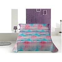 Lois kasis juego de sábanas 4 piezas, 50% algodo 50% poliester, gris cama 150x190/200
