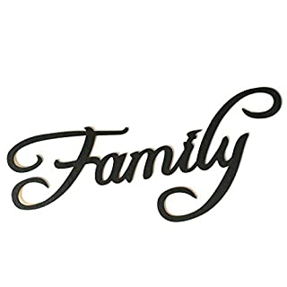 Fish Family Memories Blessings Letter Wooden Wall Sticker Wood Hanging Sign Word DIY Home Bar Decoration Ornament