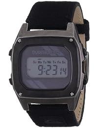 Quiksilver M166DW-18T - Reloj digital para hombre con correa de piel, color negro