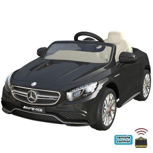 SIMRON Mercedes-Benz S63 AMG Cabriolet Ride-On 12V Elektro Kinderauto Kinderfahrzeug Kinder Elektroauto Schwarz