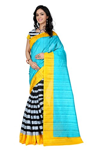 Glory Sarees Cotton Silk Saree (Kalapi103_Blue)
