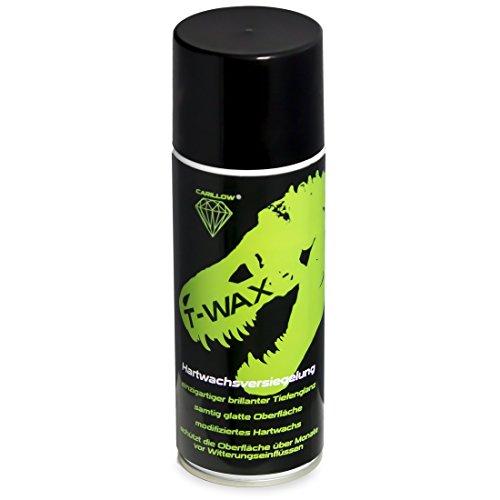 Carillow T-WAX Hartwachsversiegelung / in der Spraydose / einfach aufzutragen / für den schnellen Tiefenglanz / ideal für Autos, Messeautos, Show and Shine und Tuningtreffen schnellen Tiefenglanz haben möchten