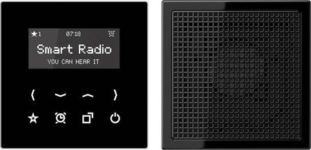 Jung Rad 918 SW Smart Radio-Set Mono Serie LS schwarz