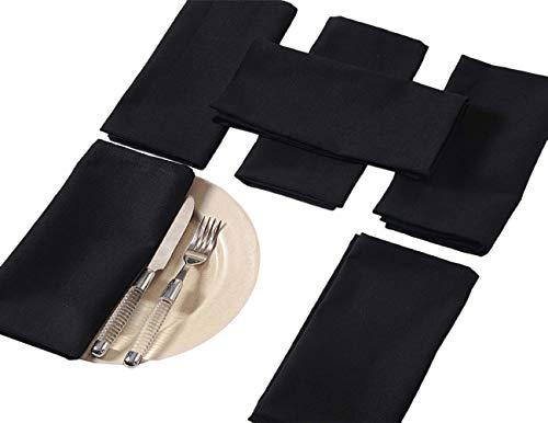(ShalinIndia Schwarz Servietten Set von 6; Baumwolle Tischwäsche; Frühlings-Dekorationen für Haus)