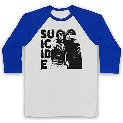 The Guns Of Brixton Suicide New Wave Band 3/4 Manches Retro T-Shirt de Base-Ball