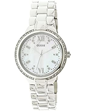 Guess Mademoiselle White Dial Analog Women's Watch-W1016L1