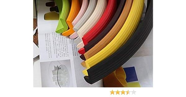 Design61 Universal Eckenschutz Schutzecken Sicherheits Schutz Ecken Kantenschutz Sicherungspuffer Schutzkappen Schaumstoff Tischkantenschutz Sto/ßschutz selbstklebend 2m in Beige