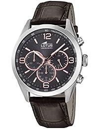 Lotus Watches Reloj Cronógrafo para Hombre de Cuarzo con Correa en Cuero  18155 7 d70993dae348
