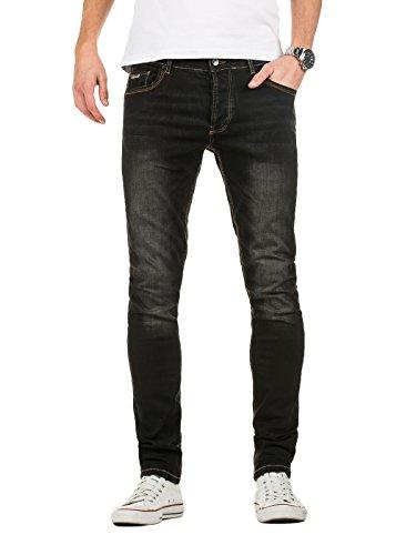 Yazubi Herren Jeans Jhin - Slim Fit Jeans, Schwarz (Black Stone 301), W30/L32