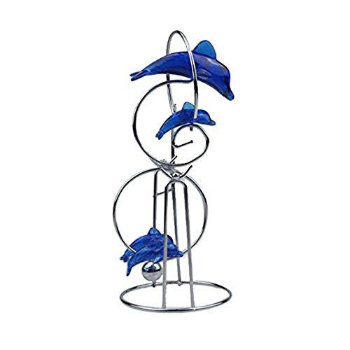 Delphin Ornament - TOOGOO(R)Blauer Delphin Ornament Handwerk Dekoration Motion Ball Feiertag Geschenk 19.2*8*8cm