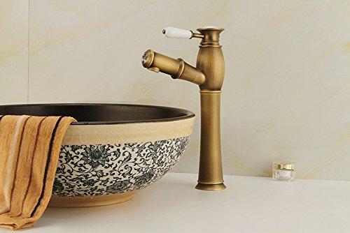 Gold Basin Taps (LHbox Bad Armatur in Bad für Waschbecken Waschtisch Wasserhahn Waschtischarmatur Die wasserhähne Gold Basin Tap-Tap-Tap-Kupfer)